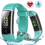 YONMIG Fitness Armband, Wasserdicht IP68 Fitness Tracker mit Pulsmesser Blutdruckmessung 0,96 Zoll Farbbildschirm Aktivitätstracker Smartwatch Schrittzähler Smart Watch...