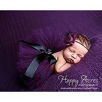 TININNA bambino Fotografia Prop Newborn ragazze Tutu Vestito skirt Suit Fascia Hairband Impostato Viola