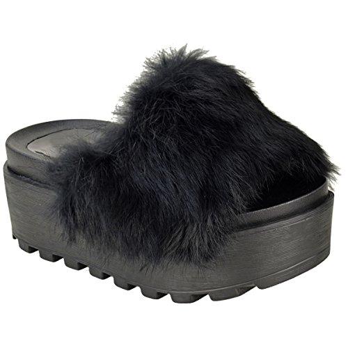 womens-ladies-faux-fur-flatforms-wedge-slip-on-summer-sandals-sliders-shoes-size