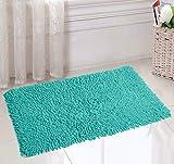#5: Saral Home Soft Cotton Anti Slip Saggy Bathmat (Turquoise, 40x60cm)