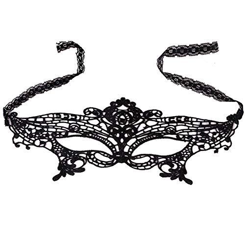 Youkara Spitze Augenmaske schwarz Spitze Augenmaske Lady Sexy Party Kostüm Ball Ball Kleid Masquerade Halloween Karneval Party Augenmaske
