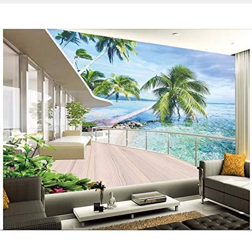 3d tapete benutzerdefinierte foto vlies mural bild europäischen hawaii villa balkon dekoration malerei raum tapete für wände 3d haushalt mural Sshssh-300x250CM (Sie Hawaii-dekorationen Machen Eigenen Ihre)