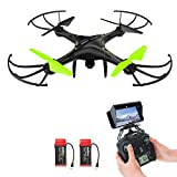Potensic Drone con Telecamera, U42WH Updated WiFi FPV 2.4Ghz Hover Quadcopter Droni Quadricottero Videocamera 720P HD Camera, Headless Mode, 3D Flips
