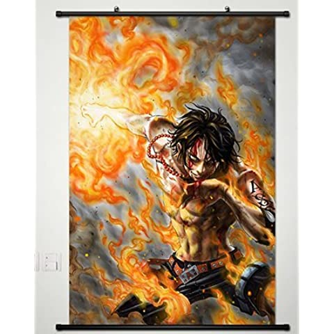 Wall Scroll Poster Fabric Painting For Anime One Piece Portgas D Ace 344 L by One Piece