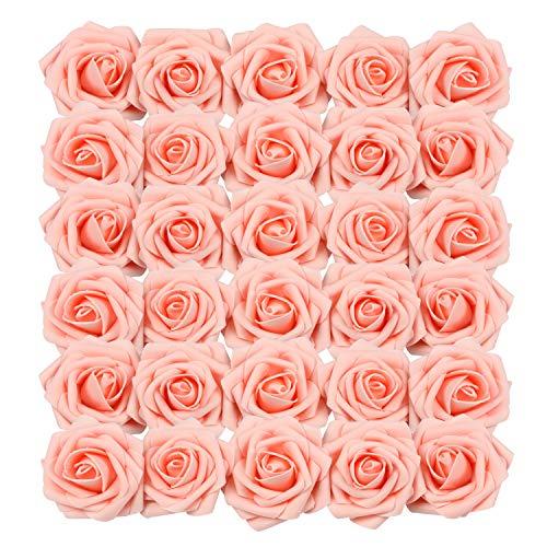 Homcomoda Rosa Künstliche Rose 30Pc Künstliche Blume Gefälschte Rosen für Die Hochzeit