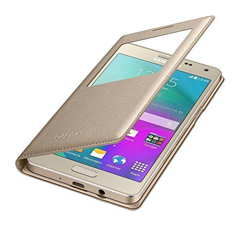 RayKay premium Leather golden Flip Cover for Samsung Galaxy J7 2016