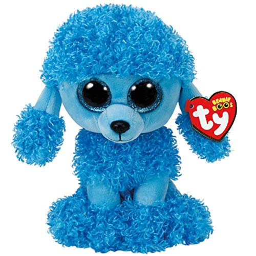 Beanie Boo Dog - Mandy - Poodlle - Blue - 24cm 9""