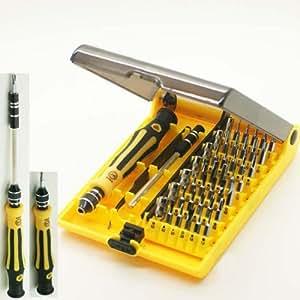 fitTek Kit 45en1 Destornillador Varios Modelos Herramienta para Reparación