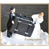 Brautpaar mit Koffer Spardose Tortenfigur Hochzeit