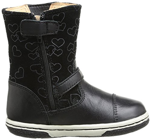 Geox B Flick Girl, Boots bébé fille Noir (Black)