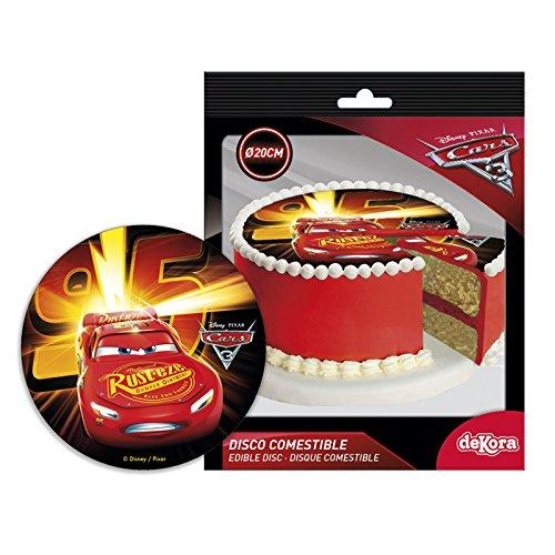 Generique - Cars-Tortenbild Zuckerplatte Lizenzware 20cm (Bild Kuchen)