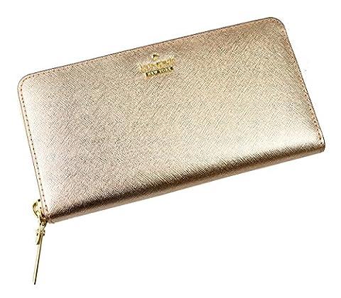 KATE SPADE New York Geldbörse Portemonnaie Lacey PWRU5073B Leder Rosé Gold