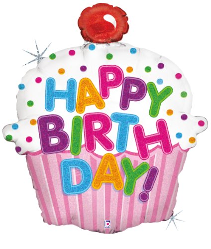 Betallic F85587P - Folienballon 31 Zoll - Torte Happy Birthday, - Happy Birthday 31