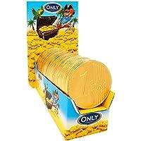 Monete d'oro di cioccolato, 15 Monete giganti di cioccolato. Ideale per le Feste e la vostra Caramellata
