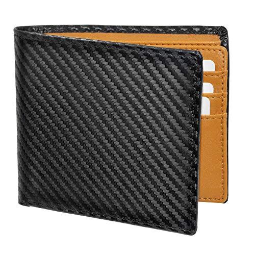 Pacrate Leder Geldbeutel Männer RFID Schutz   Münzfach Geldbeutel Herren Portmonaise Kompakte Portemonnaie Brieftasche Männer