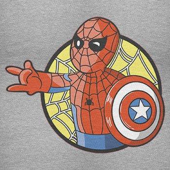 TEXLAB - Spider Boy - Damen T-Shirt Grau Meliert