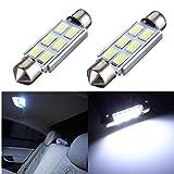 AUDEW 2 x Weiß Canbus 42mm 5630 SMD 6 LED DC 12V Kennzeichenbeleuchtung Innenbeleuchtung Soffitte Lampe Licht