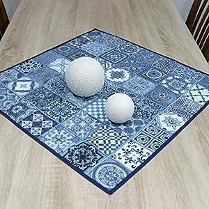 LIMITED EDITION Erstaunliche Kleine Quadratische Tischdecke, das Beste Geschenk für die schönste Küche von HomeAtelier, NAVY Blau, 44x44cm, 62x62cm