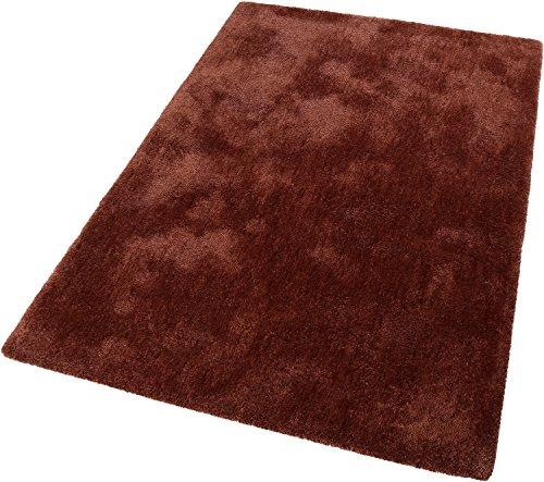 ESPRIT Relaxx Moderner Markenteppich, Polyester, Kupfer Rot, 150 x 80 x 2.5 cm -