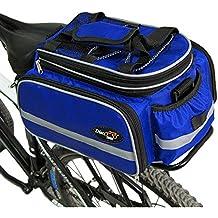 Disc-nan Bolsa alforja para bicicleta con funda impermeable, azul