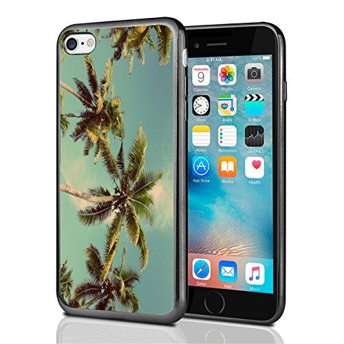 Palmen, mit Vintage Filter für iPhone 7(2016) & iPhone 8(2017) Schutzhülle von Atomic Markt