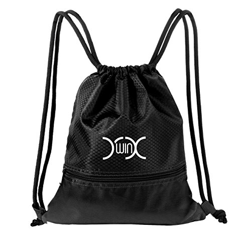 Imagen de yxwin cordón  bolsa sackpack impermeable deporte gimnasio saco bolsas de cuerdas gymsack backpack para hombre y mujer