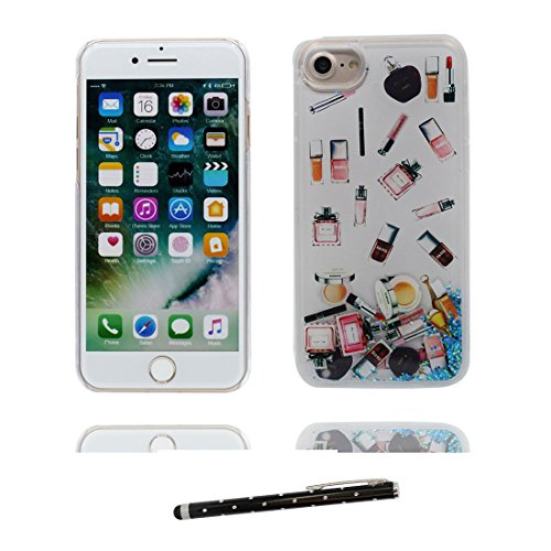 "Coque iPhone 6 Plus, [Bling Bling Glitter Fluide Liquide Sparkles Sables] iPhone 6s Plus étui Cover (5.5 pouces), iPhone 6 Plus Case (5.5""), anti- chocs & stylet- Make Up Palette Lipstick Perfume # 8"
