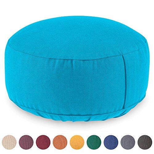 Coussin de méditation / Yoga LOTUS (H : 15cm) - coton Bio - certifié GOTS - H : 15cm