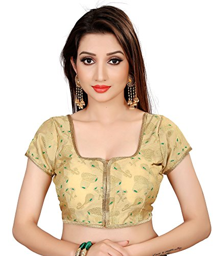 Spangel Fashion Musical Instruments Round Neck Women's Ready Made Stitched Saree's Blouses,...