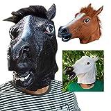 Equickment Novedad Creepy Horse Cabeza de Halloween Látex Disfraz de Goma Teatro Prop Máscara de Fiesta Descuentos de Oferta Máscara de Silicona