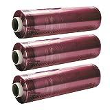 3 x Rollos - Film Plastico Transparente - 30cm x 300m - para Alimentos, Catering, Embalaje, Casa, ( PVC Film )