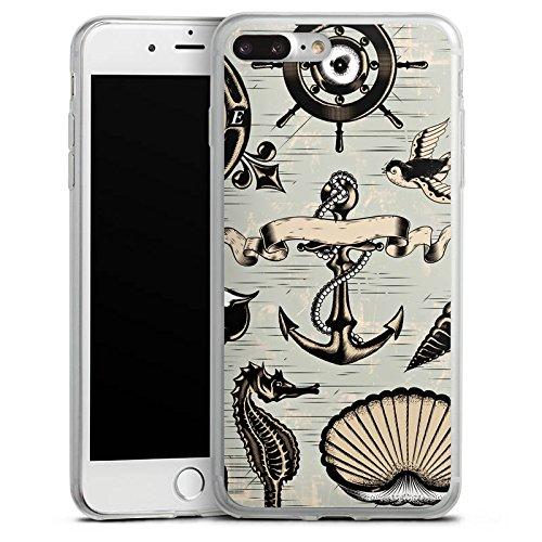 Apple iPhone X Slim Case Silikon Hülle Schutzhülle Anker Seefahrer Meer Silikon Slim Case transparent