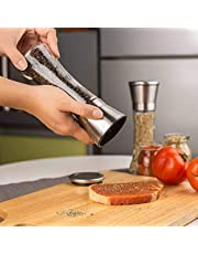 Gopendra Professional Stainless Steel Salt and Pepper Grinder with Adjustable Coarseness with Five Grinding Level Pepper Mill Grinders Shakers .(Single Package)