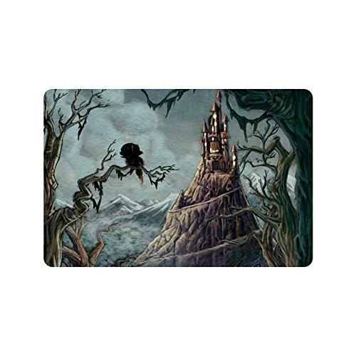 Halloween Spooky Castle Home Decor, Holz Bäume Polyester Stoff Vorhang für die Dusche Badezimmer-Sets mit Haken 152,4x 182,9cm, Textil, multi, 23.6 X 15.7 inch (Halloween-dusche Vorhang-set)