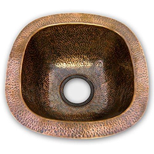 Houzer HW-LAG1BF Hammerwerks Series Undermount Copper Single Bowl Bar/Prep Sink, Antique Copper by HOUZER - Hammerwerks-serie