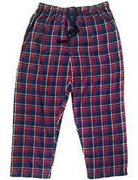 Twist Men's Navy Blue & Red Checked Pure100% Cotton Pyjama Sleepwear Night Wear