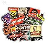jaglo 23Pcs/Lot Supreme Stickers For Car Laptop Motorcycle Skateboard Luggage Decal Toy Sticker waterproof