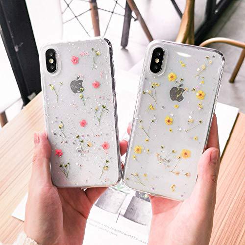 ALAX Handyhülle Getrockneter Blumen-weicher TPU-Telefon-Kasten für iPhonetransparentes Bling schöne rückseitige Abdeckung-in gepaßten Kästen von den Mobiltelefonen u. Von der T - Aus Telefon-kästen Bling