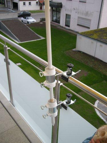 Parapluie de bâtons à 25,5 ø 47 mm-lot de 1-support jusqu'à 40 mm diamètre de grande taille-acier inoxydable-distance support de parasol pour balcon ou pour l'extérieur à l'intérieur 11 cm hauteur de fixation de parapluie pour fixation breveté-holly rond ou carré éléments de 2 à 3 prises radius 40 mm en acier inoxydable avec support réglable pivotant à 360 kratzfreien gUMMISCHUTZKAPPEN ° avec support de fixation-pivotant à 360° avec distance prises pour parasol bâtons de 55 à ø 25,5 mm douille profonde 11 cm 13 cm d distance filetage long bec pivotant aXE-innovations lot de 2-en allemagne-holly ® produits sTABIELO-holly-sunshade ® sCHIRMEN à sur-ø 2,5 cm de 2 supports de fixation ou 2-te utiliser pour des raisons de sécurité (kabelbinder)