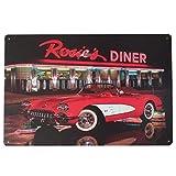 winomo Metall Schilder Wandschild Poster Vintage Home Bar Decor–Rosies Diner