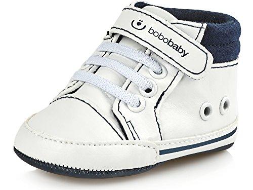 Bobobaby Bébé Chaussons Chaussures pour Bébés ZB-112 Blanc-Bleu