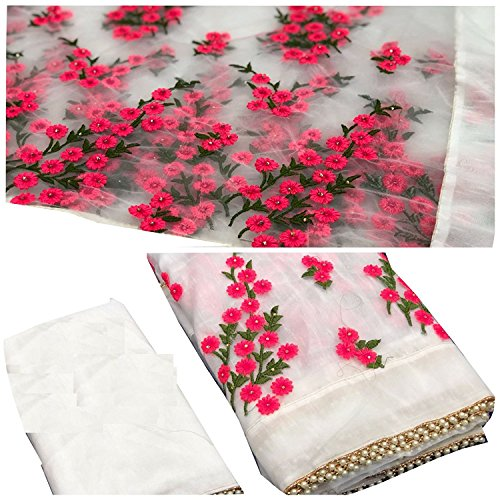 future india Women\'s Mono net Embroidery work Saree With Blouse Piece. new designer saree collection for 2018