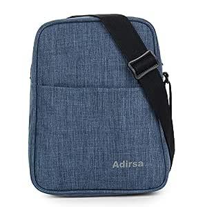ADIRSA LB3002 Navy Blue Insulated Lunch Bag / Tiffin Bag for Men, Women, Kids, School, Picnic, Work Carry Bag for Lunch Box | Shoulder Sling Bag | Adjustable Shoulder Strap