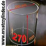 Ersatzglas Würstchenwärmer H=270/ D=200mm, Qualitätsvorteil: Bestes Jenaer Glas