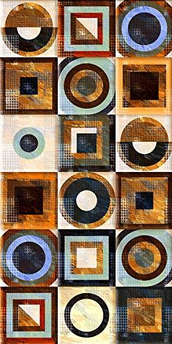 Arredo carpet passatoia tappeto digitale in vinile con fantasia azulejos maioliche portoghesi multicolor facilmente pulibile.