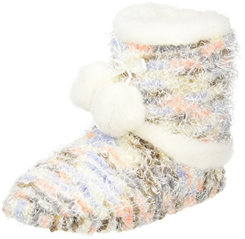 Totes - Totes Ladies Bobble Knit Bootie Slipper, Pantofole Donna Multicolore (Multicolore (Multi))