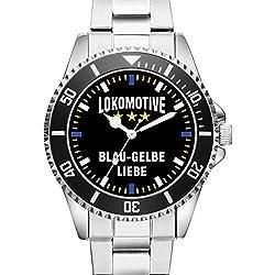 Lokomotive - Blau Gelbe Liebe - KIESENBERG ® Uhr 2393