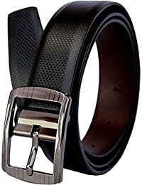 Saugat Traders Leather Belt For Men and Boys Reversible Black and Brown - Free Size