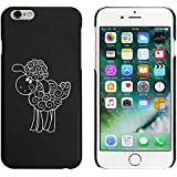 Negro 'Ovejas Felices' Funda / Carcasa para iPhone 6 y 6s (MC00050201)