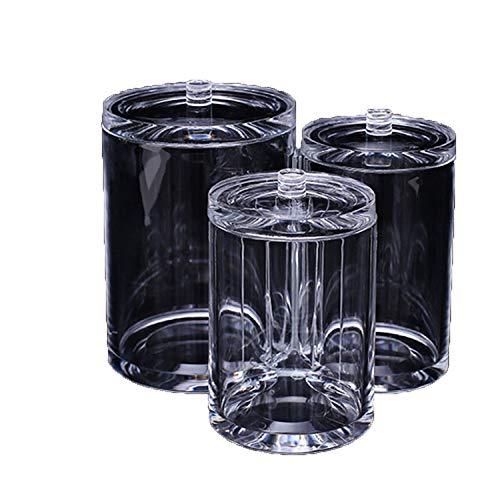 Schmink aufbewahrung,Beauty Augenbrauenpinsel Make-up Pinsel Aufbewahrungsbox, 3Fässer mit Deckel